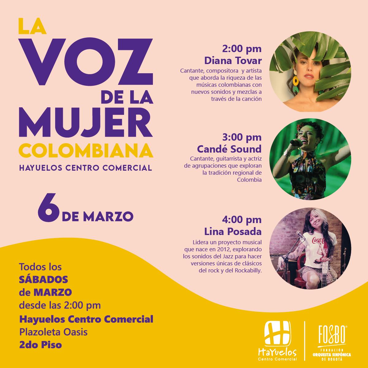 La voz de la mujer colombiana Hayuelos