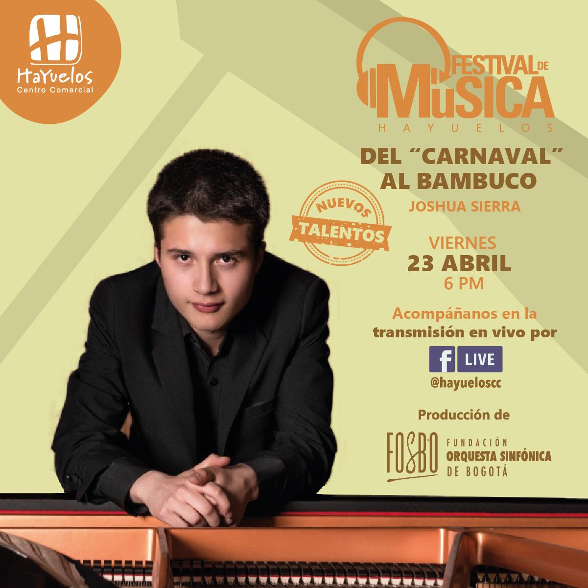 Joshua Sierra Piano Festival de Música Hayuelos Fosbo