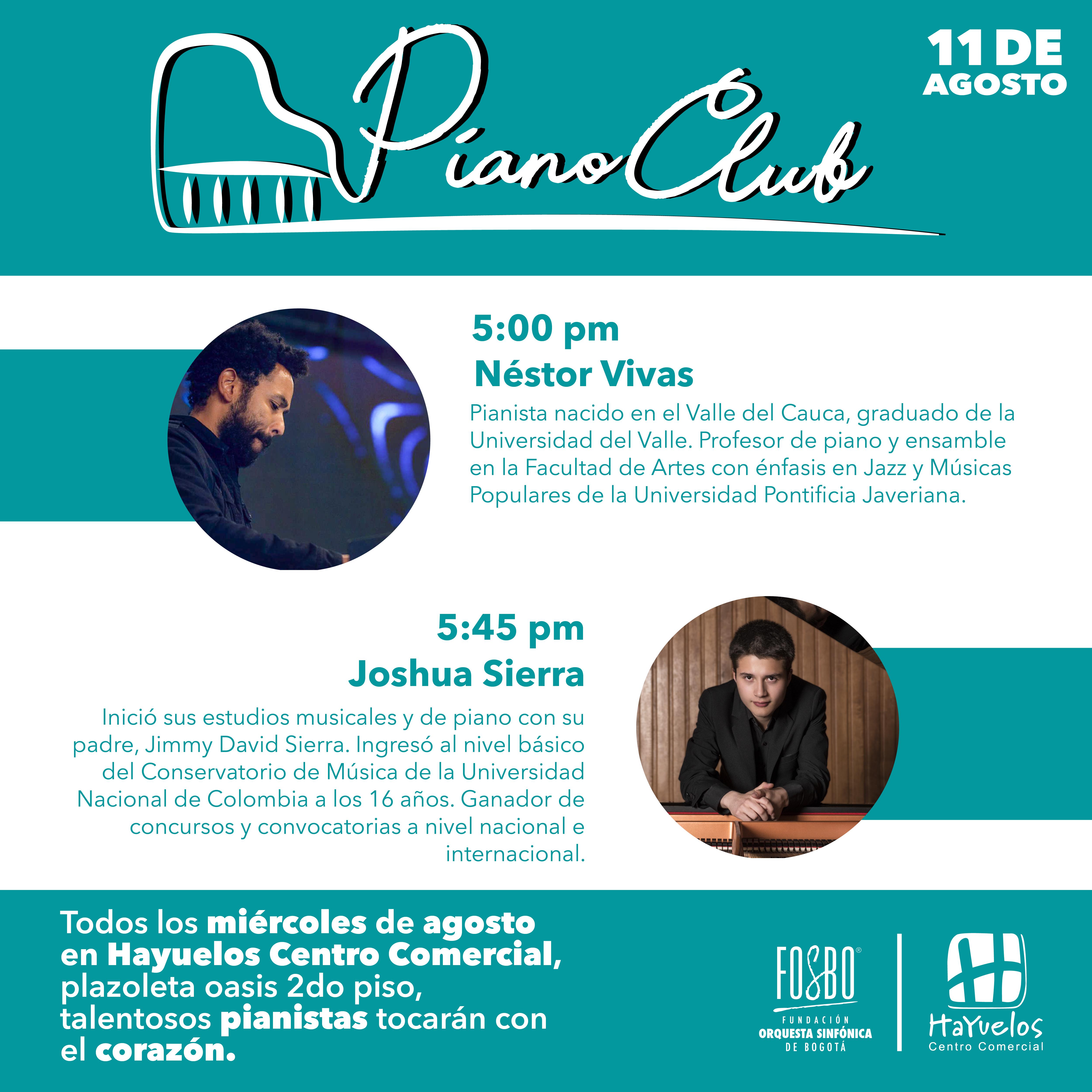 Flyer 11 de agosto Piano Club