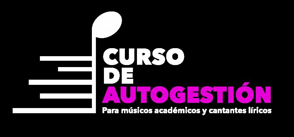 Logo Curso de Autogestión blanco