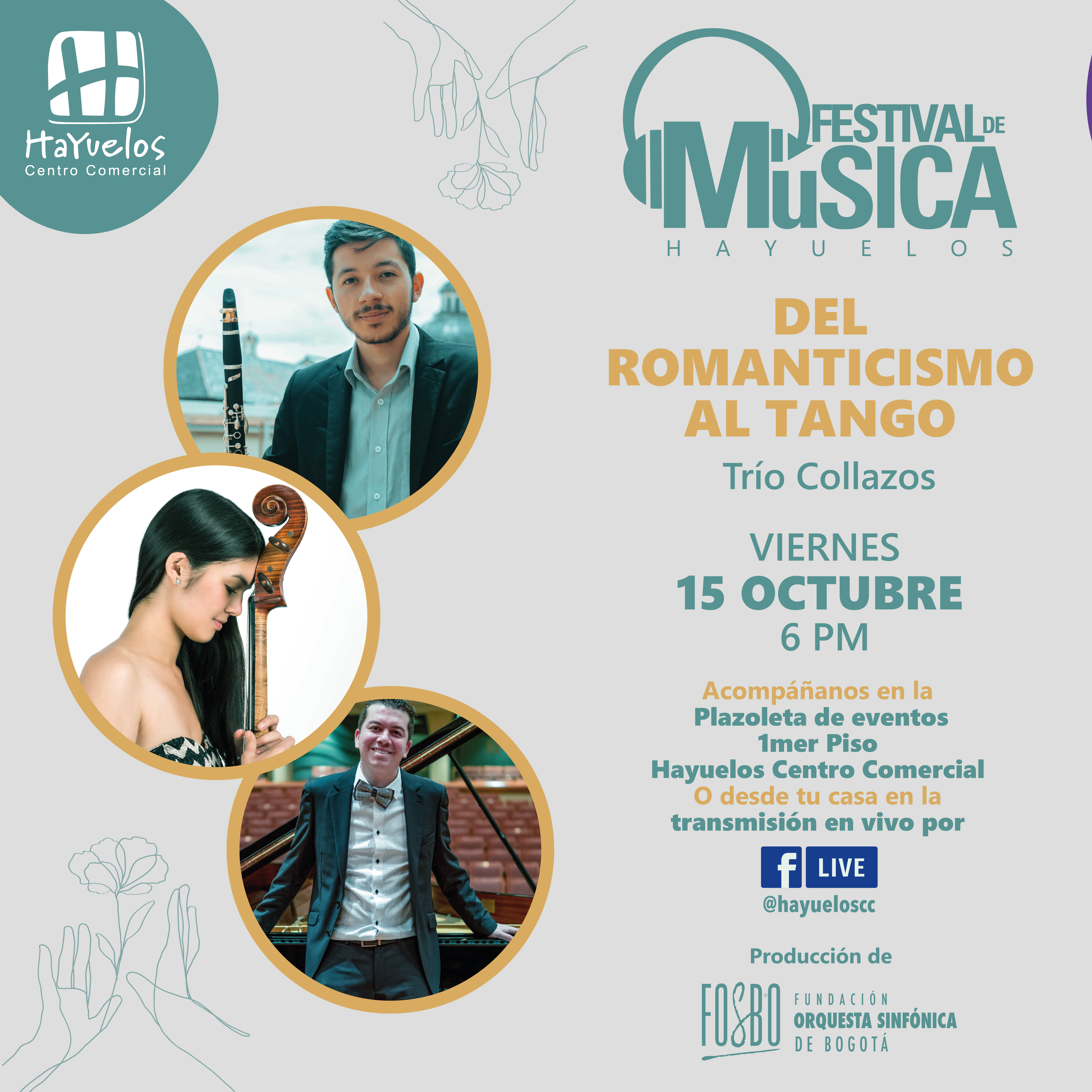 Trío Collazos Festival de música Hayuelos Fosbo